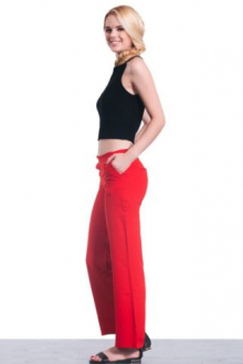 Cuffed Red Pant