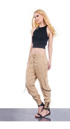 Cuffed Zipper Trousers