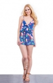 Floral Deep V Playsuit