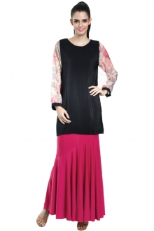 Floral Design Sleeve Casual Top