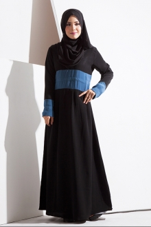 Nada Layered Belt Panel Sleeve Jubah Dress