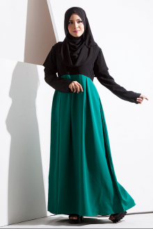 Yasmin Layered Sleeve Pleated Jubah Dress