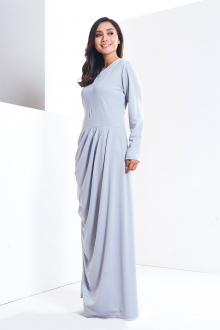 Tania - Modern Layered Design Jubah Dress