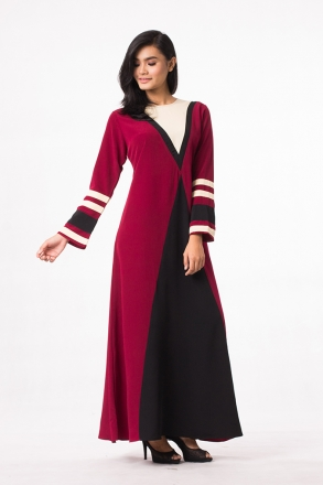 Suzanne Panel Jubah Dress