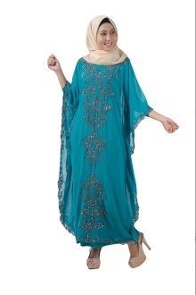 Samara in Kaftan Style with Embroidery Details