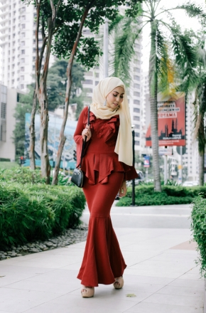 Clara Exclusive Peplum Dress