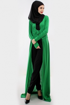 3 Pieces Asymmetric Layered Cardigan With Tank Top + Long Pants (Including Shawl)