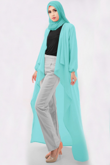 3 Pieces Asymmetric Long Cardigan + Long Sleeve Inner Top with Pants