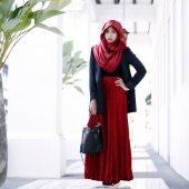 3 Pieces Oversized Jacket + Tank Top With Flared Skirt (Including Shawl)