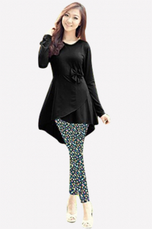 2 Pieces Evelina Overlap Tunic with Pants