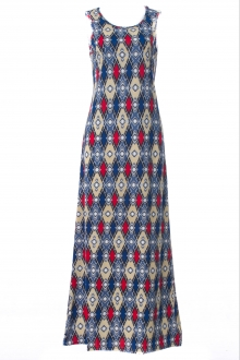 Syachira In Ikat Motifs Sleeveless Innner Dress