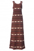 Janna In Horizontal Ethnic Motifs Sleeveless Inner Dress