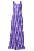 Badeea In Vertical Stripes Polkadot Motifs Sleeveless Inner Dress