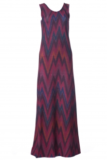Jazeera In Chevron Motifs Sleeveless Inner Dress