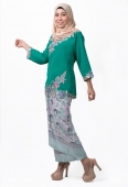 Revfa Kurung with Self Tied Floral Printed Skirt