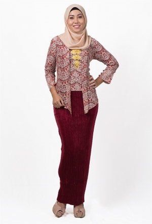 Tejja Tradisional Kebaya Lace with Pleat Skirt