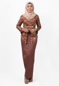 Aresya Modern Kebaya in Ethnic Motif with Ribbon Belt