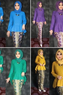 (Pre-Order for New Raya Design) Briskha Fishtail Peplum Set