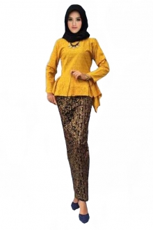 (Pre-Order for New Raya Design) Deyana Fishtail Peplum Set