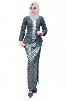 (Pre-Order for New Raya Design) Elsoraya Modern Kebaya Set in Songket Motif