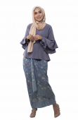 Izabella Kurung Modern Style With  Self Tied Sarong