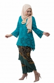 Alyssa Classic Kurung Modern Style with Self Tied Printed Sarong