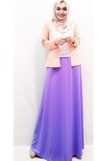 3 Pieces Basic Cardigan + Chiffon Sleeveless Top with Long Skirt (Including Shawl)