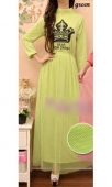 Crown Printed Waist String Jubah Dress