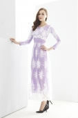Retro Floral Embroidery Lace Design Jubah Dress