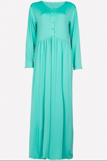 Half Button Jubah Dress (Including Shawl)