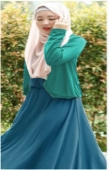 2 Pieces One Button Cardigan Jubah Dress