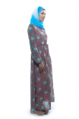 Paisley Chiffon Jubah Dress