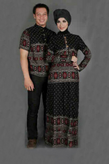 Retro Design Couple Set (Men Top + Lady Top and Skirt)