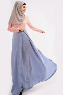 2 Tones Women Jubah Dress (Including Shawl)