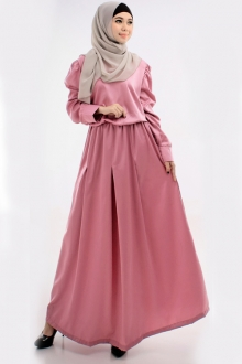 Pleated Design Jubah Dress (Including Shawl)
