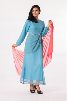 Beads Design Drapping Jubah Dress