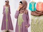 Lace Design One Pieces Jubah Dress (Without Shawl)