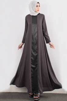 Satin Leather With A-Cut Jubah Dress (Including Shawl)