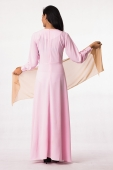Lace Design Princess Jubah Dress (With Shawl)
