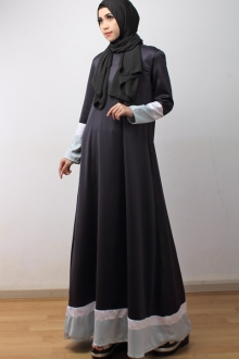 Panel Design Modern Jubah Dress (Including Shawl)