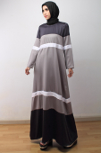Colour Tones Flared Dress (Including Shawl)