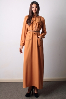 Half Button With Pocket Design Jubah Dress (Including Belt)