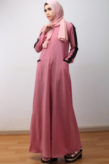 Modern Jubah Dress With Sleeve & Pocket Design (Including Shawl)