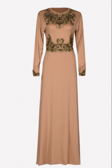 Princess Jubah Dress with Hijab  (Including Shawl)