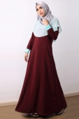 Belmiah Cape Dress with Button Cuff