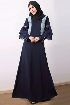 Soraya - Frill Sleeve Jubah Dress