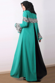 Neyla - Lace Details with Godet Back Jubah Dress