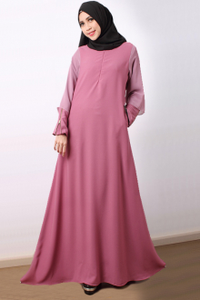 Za'arah - Chiffon Layered on Sleeve Jubah Dress