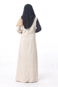 Loffa One Side Cape Style With Pocket Jubah Dress