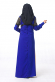 Reggina Open Style With Tweed Fabric Details Jubah Dress